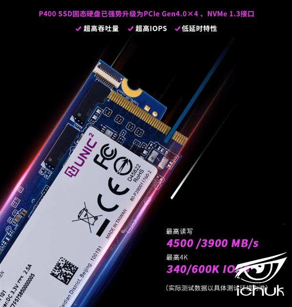 紫光首款PCIe 4.0 SSD上架:管用54年、1TB 1599元
